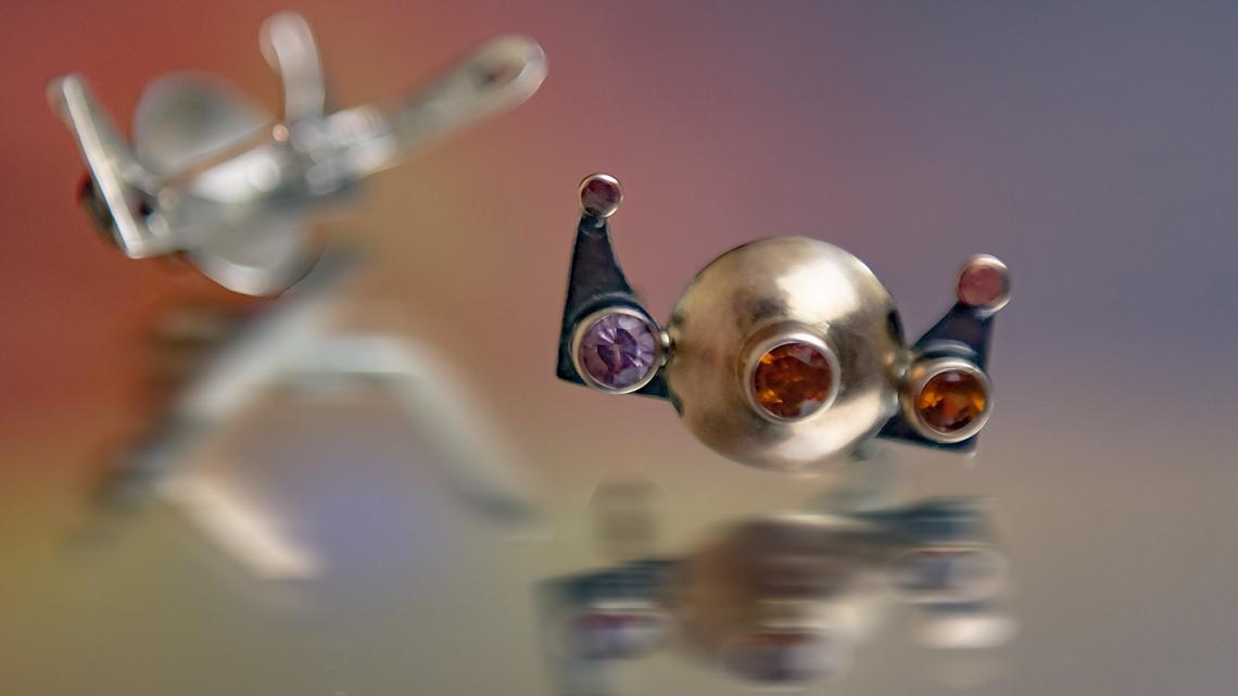 """Серебряные серьги с гранатом (спессартин, гранат """"мали"""")"""
