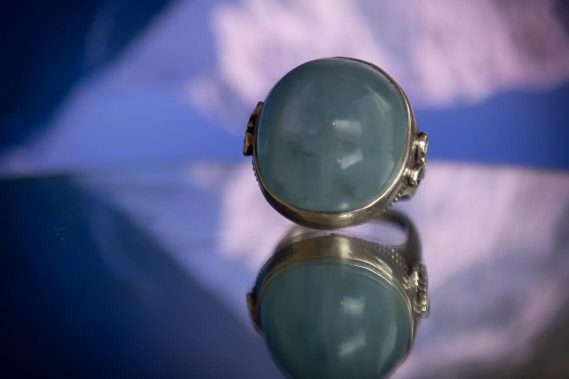 Big aquamorine ring